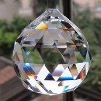 Austrian Swarovski Crystal Rainbow Maker Hanging Faceted Ball
