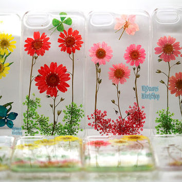 Unique real Pressed flower iphone 4 4s 5 5s 5c Case cover Samsung galaxy s3 s4 s5 mini Case, Sony xperia z1 z HTC one x NExus 5 4 Ipod touch
