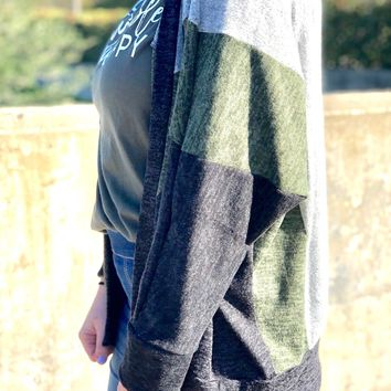 Think Of You Cardigan - Olive