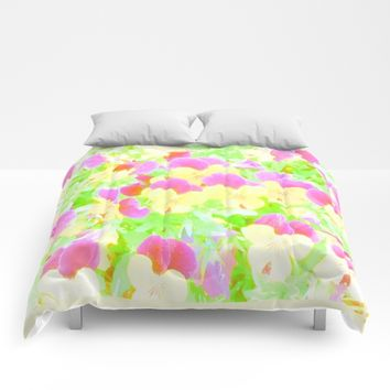 Pansy Comforters by Jessica Ivy