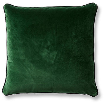 Carey 20x20 Pillow, Emerald/Forest Velvet - Pillows & Throws - Holiday Decor - Holiday | One Kings Lane
