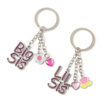 Big Sis Lil Sis Mood Keychains | Claire's