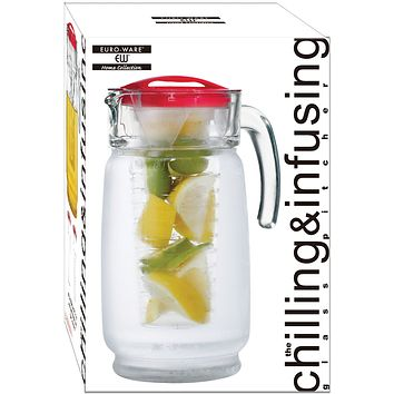 64 oz Chiller & Infuser Glass Pitcher