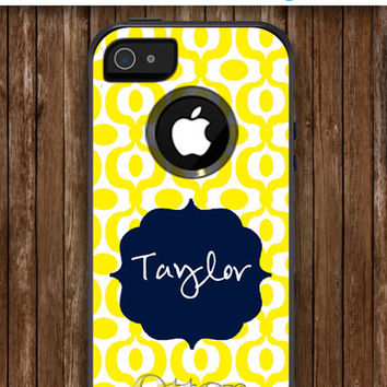 iPhone 5 Case Personalized Monogrammed iPhone OtterBox Commuter Phone Case - iPhone 4/4S, iPhone 5/5S, iPhone 5C - Metro Pattern