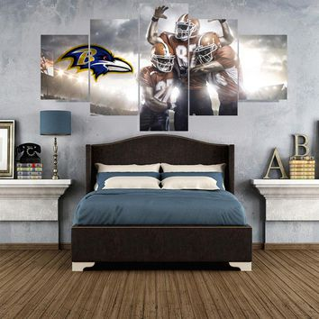 Classical Football Paintings Baltimore Ravens Modern Home Decor Living Room Bedroom Wall Art Canvas Print Painting Calligraphy