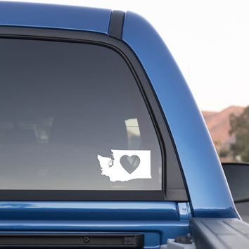 Washington State Love Sticker for Cars and Trucks