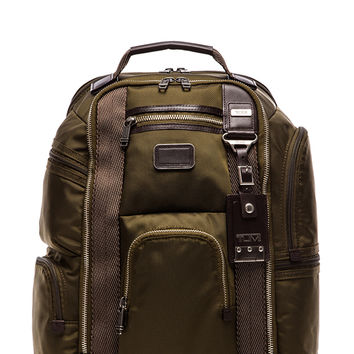 Tumi Alpha Bravo Kingsville Deluxe Brief Pack in Army