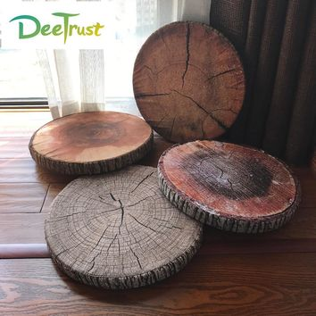 Hot Sale Cheap Creative 3D Cute Pillow Stump Coussin Round Chair Seat Cushion Kid Kussens Sofa Throw Pillow Almofadas Cojines