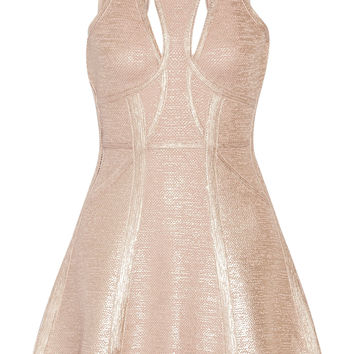 Alina cutout metallic bandage mini dress | Hervé Léger | PR | THE OUTNET