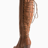Lace Up Back Heel Boots (Wide Width & Wide Calf)