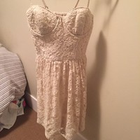 Cream lace bustier dress, -ship to Canada only -shipping only, ...