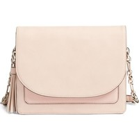 Phase 3 Tassel Faux Leather Shoulder Bag | Nordstrom