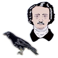 Edgar Allen Poe Collar Pin Set