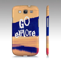 "Samsung Galaxy S3 Cover -   ""Go Explore"" - $35.00 - Handmade Accessories, Crafts and Unique Gifts by Vintage Skies Photography & Designs"