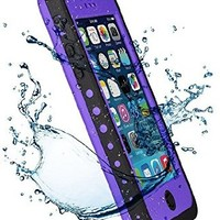 VISUN Waterproof Dirtproof Snowproof Shockproof Protective Carrying Case Cover for iPhone 5C Purple
