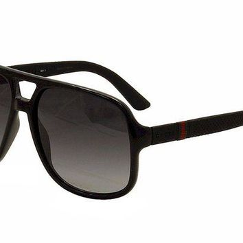 ONETOW Gucci 1115/S M1V Black / Rubber 1115/S Square Aviator Sunglasses Lens Category