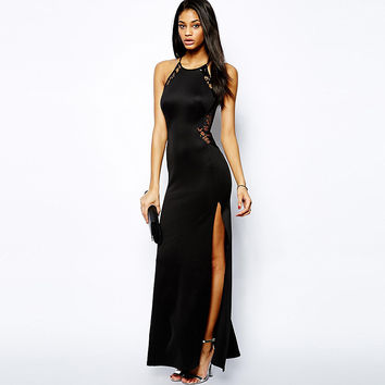 One Piece Sexy Women Black Evening Party Dress  = 5988234753