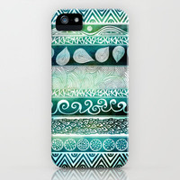 Dreamy Tribal Part VIII iPhone Case by Pom Graphic Design