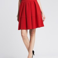 Banana Republic Womens Red Full Skirt