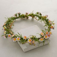 Posy Floral Crown by Anthropologie Green One Size Accessories