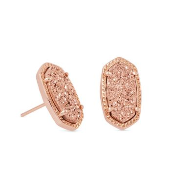 Ellie Rose Gold Stud Earrings in Ivory Pearl | Kendra Scott