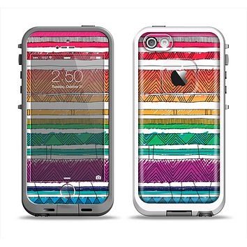 The Crayon Colored Doodle Patterns Apple iPhone 5-5s LifeProof Fre Case Skin Set