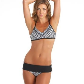 NEXT By Athena | Sports Bra Swim Top | Retro Bikini Bottoms