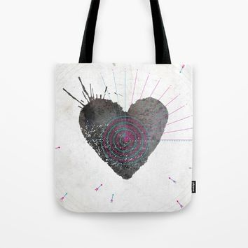 your heart is my target Tote Bag by Migmig