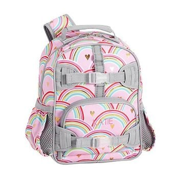 Mackenzie Pink/Gray Foil Rainbows Backpack