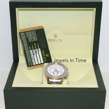 Rolex Yachtmaster II 18k White Gold Mens Automatic Watch Box/Papers M 116689