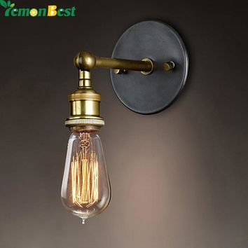 Adjustable Vintage Industriial Metal Wall Light Sconce Wall Lamp Fixtures Retro Brass Lamp Country Style