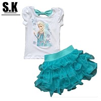 Casual Girls Clothing Set Fashion Clothes for Kid 2-7Y