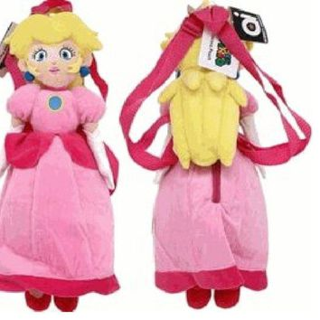 Princess Peach Plush Backpack - Super Mario Brothers Plush Bag