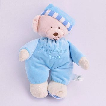 Free shipping Sweet Cute baby Girls toys appease baby to sleep baby stitch plush toy bear doll birthday gift animales de peluche
