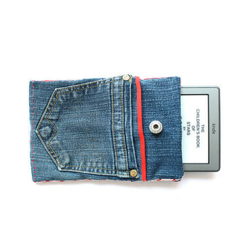 Jeans e reader, tablet cover - easy sewing for beginners, kindle, sony, nook, iPad cover