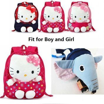 New Design Safety Hardness for Children Hello Kitty Children Backpacks Kid Plush Backpacks with 3 Colors Baby Harness Plush Bag