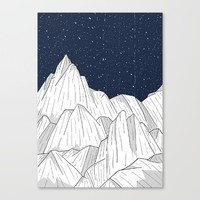 The white mountains under the stars Canvas Print by Steve Wade ( Swade)