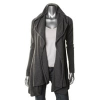 Vince Womens Cashmere Drapey Cardigan Top