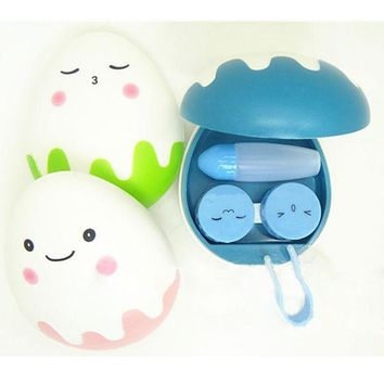 DCCKL72 1XCute Egg Design Travel Contact Lens Case Box Set Cleaning Holder Soak Storage