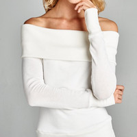 Up for Anything Off-Shoulder Top