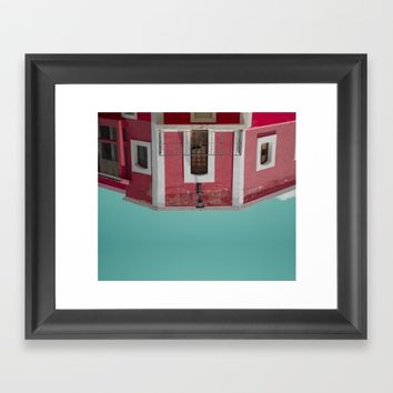 Red House Framed Art Print by lostanaw