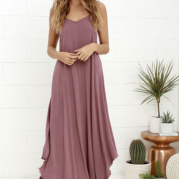 Others Follow Kiara Mauve Maxi Dress