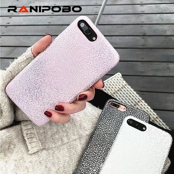 Luxury Bling Shining Mermaid Fish Scales Laser Colorful Soft Case For iPhone 7 6 6S Plus Phone PU Leather Cover Back For iPhone7