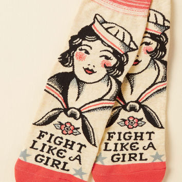 Mighty Words Socks | Mod Retro Vintage Socks | ModCloth.com