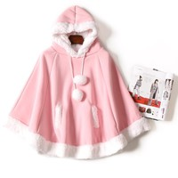 Kawaii Hoodied Cape