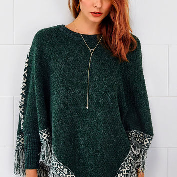 Cupshe Solo Act Tassel Jacquard Poncho
