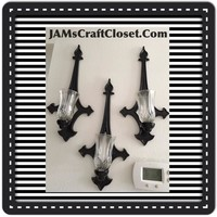 Sconce Black Wrought Iron Vintage Gothic Style Sconce Set of 3