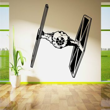 Star Wars Force Episode 1 2 3 4 5 HWHD os1668  TIE FIGHTER wall art vinyl sticker room decal movie stencil decor   AT_72_6