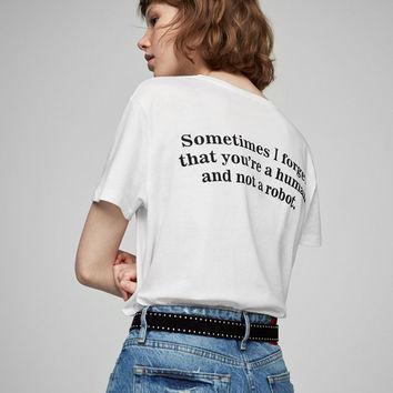 Message print T-shirt - Sale favourites - Clothing - Woman - PULL&BEAR United Kingdom