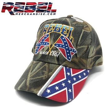 Rebel Cap Since 1861 Camo (hat112)